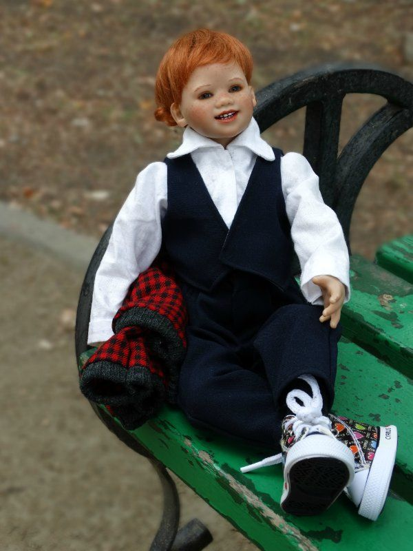 После каникул / Коллекционные куклы Annette Himstedt / Бэйбики. Куклы фото. Одежда для кукол