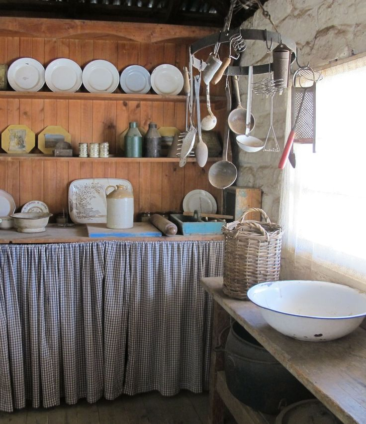 Cottage kitchen, Pioneer Settlement, Swan Hill, Victoria