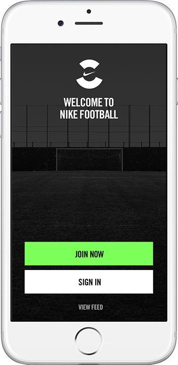 Nike Soccer App on App Design Served