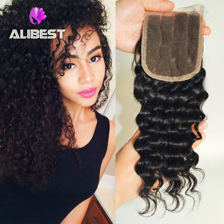 Aliexpress.com : Buy Brazilian Deep Wave Closure With Baby Hair 6A Brazilian Virgin Hair Middle/Free/3 Part Lace Top Closure 4*4 Wet And Wavy Closure from Reliable hair purple suppliers on Xuchang Alibest Hair Products Co., Ltd. | Alibaba Group