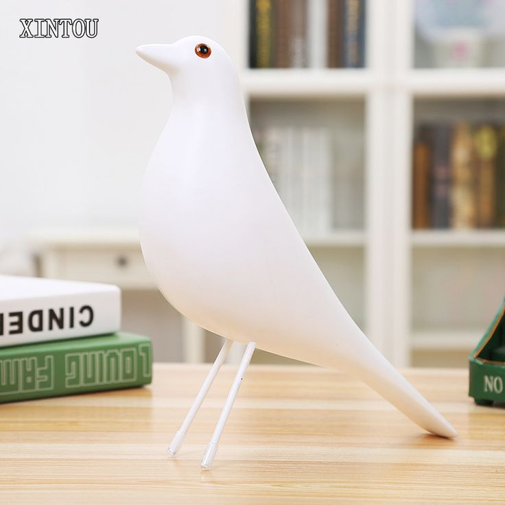 XINTOU Resin Animals Birds Statue Figurines Europe White Abstract Dove of Peace Pigeon Abstract Bird sculpture Figurine Crafts #Affiliate
