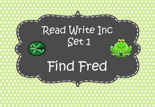 Read Write Inc Set 1 - Find Fred