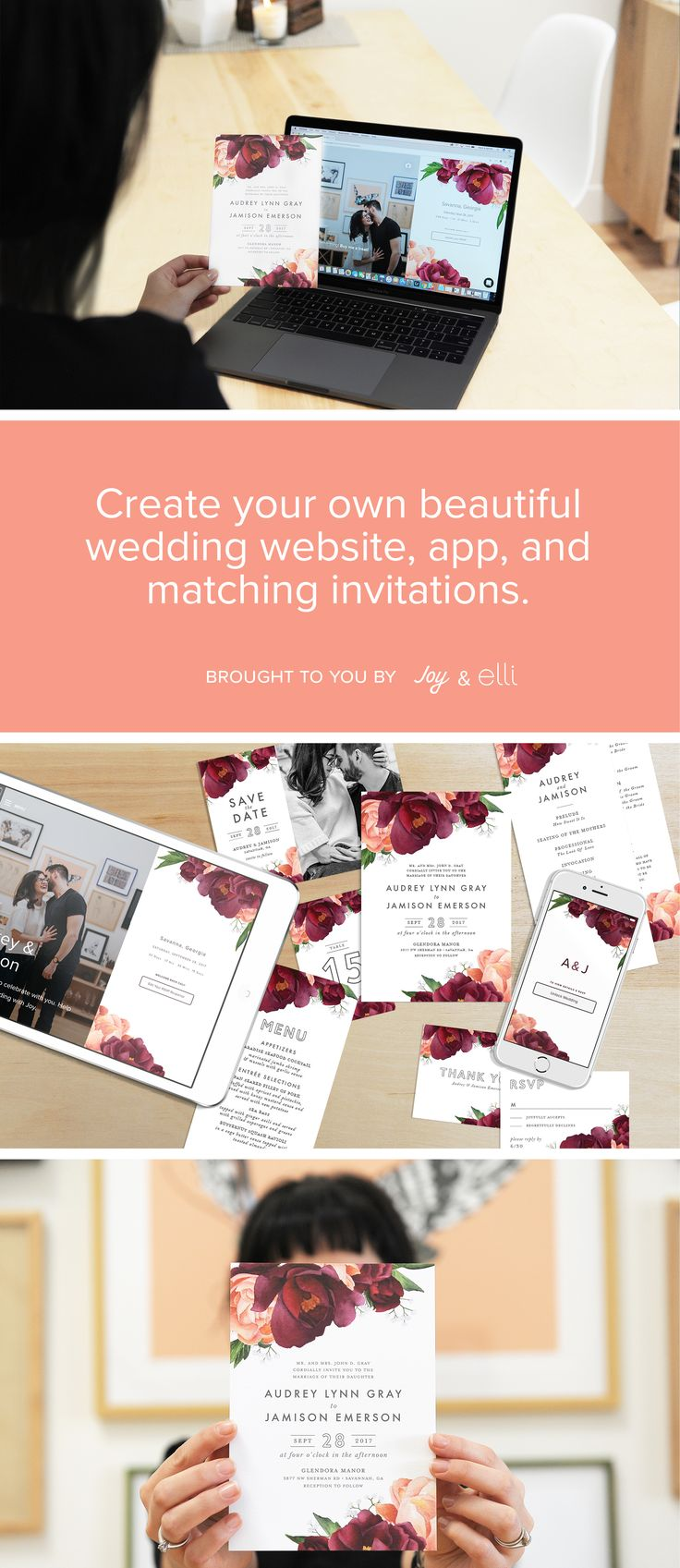 A free beautiful wedding website and app—now with matching invites!