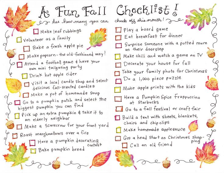 A Fall Checklist – FREE Printable! | Happy Home Fairy