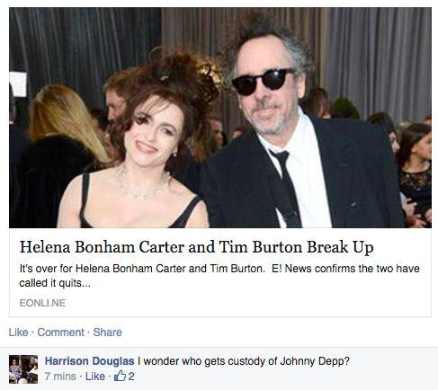 Se separan Tim Burton y Helena Bonham Carter, ¿quién se queda la...