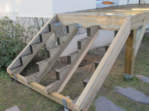 Best Deck Stairs Wood Images On   Decks Exterior