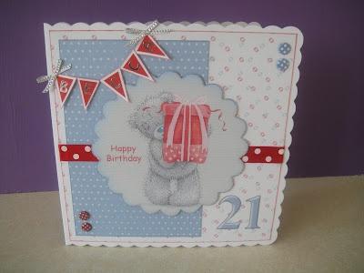 21st Birthday Tatty Teddy card