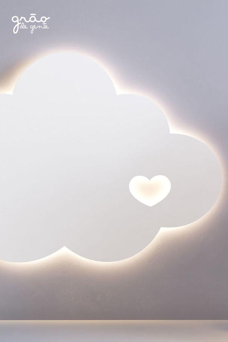 Luminaria De Parede Nuvem Coracao 30cm Nuvem Luminaria Nuvem