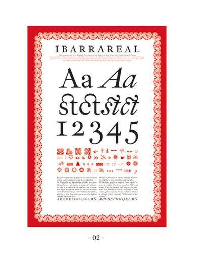 Familia tipográfica diseñada por J.M.Ribagorda, basada en los tipos de Jerónimo Gil que se utilizaron para la edición de El Quijote de la Academia Española en 1780.