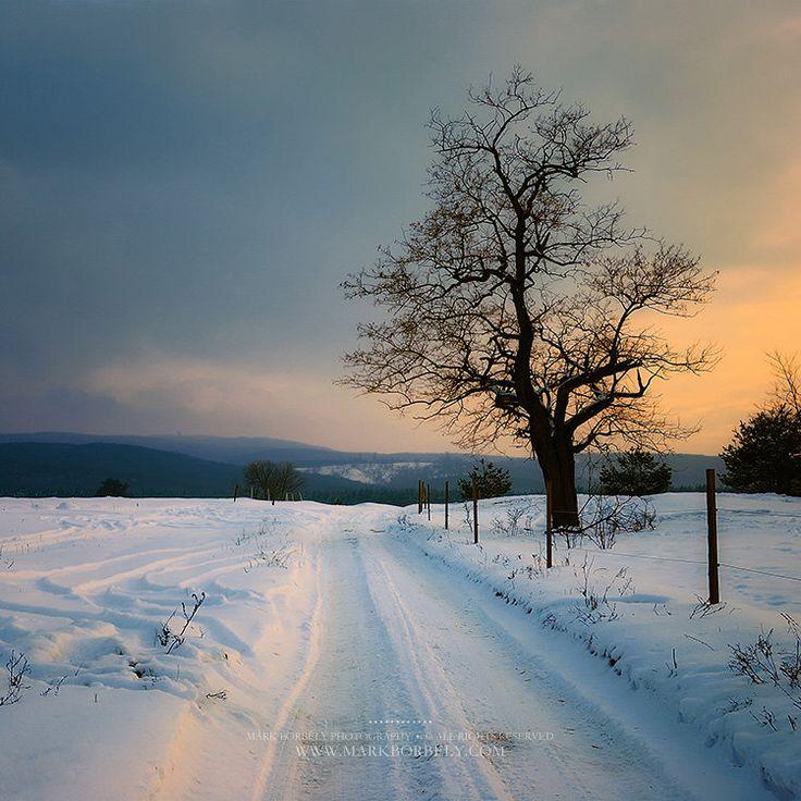 Snow covered Bakony by markborbely on deviantART