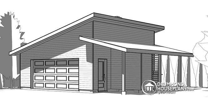 Discover The Plan 3999 Chandler 3 Which Will Please You For Its Modern Design Styles Garage Plan Two Car Garage 2 Car Garage Plans