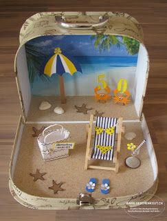 Geschenkkoffer Strand Ferien Geburtstag Reisegutsc…