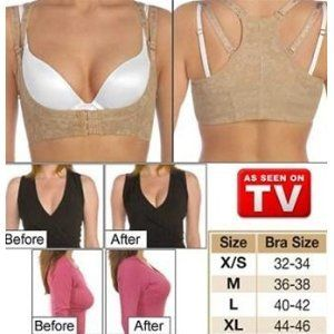 The Original Bustline Shaper (Beige) - Large (Bra Size 40-42) by Original TV Products. $5.99. Comfortable & Adjustable. Cleavage is immediately enhanced without annoying bra inserts or costly surgery. Use With Any Bra. Helps Improve Posture. Great Lift & Support for Bust. AS SEEN ON TV!!!! Enhance your natural beauty and instantly look like a Victorias Secret Angel. This high quality undergarment lifts your breasts and enhances your cleavage. Get fuller and firme...