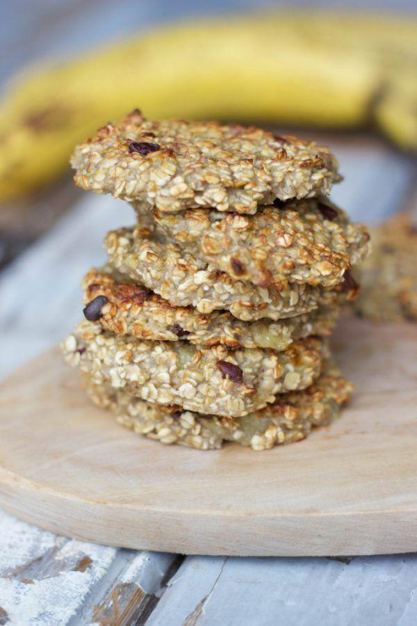 gezond tussendoortje, havermout banaan, koekjes, havermout banaan koekjes