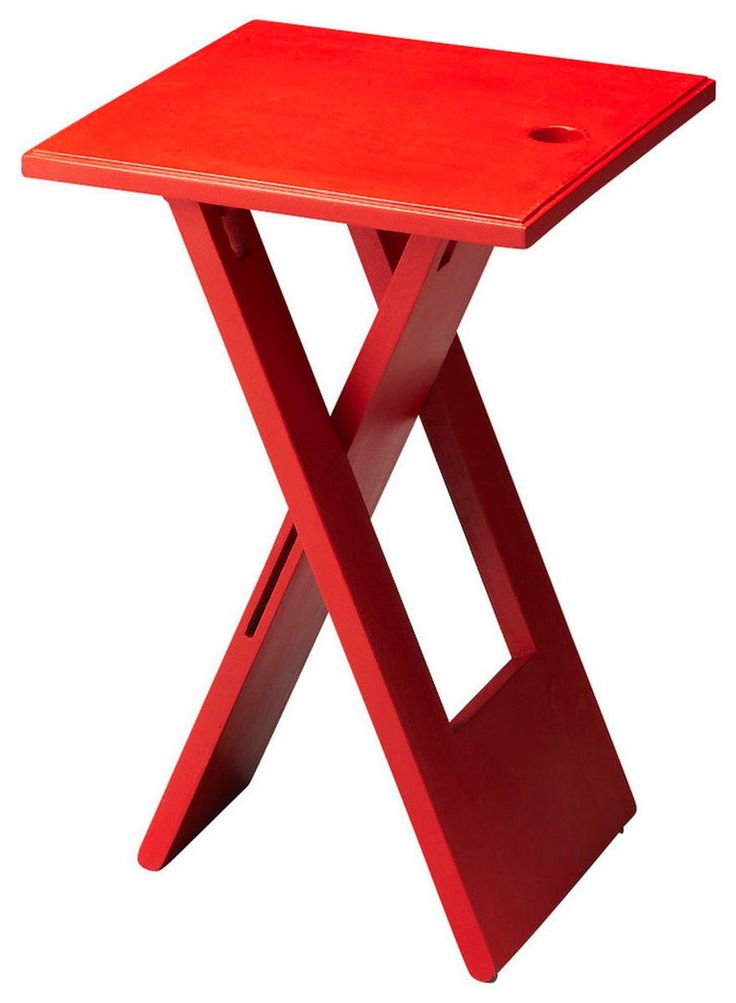 Hammond Transitional Square Folding Table Red