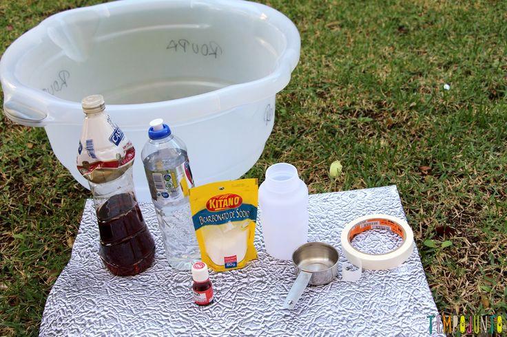 Faça com seus filhos um vulcão caseiro com lava de verdade - materiais