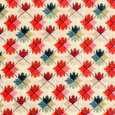 Oatlands Tapestry in Red/Green from Brunschwig & Fils #fabric #cotton #red #blue #pink