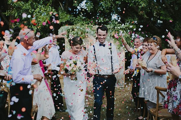 wedding ceremony recessionals - photo by Bek Grace http://ruffledblog.com/gold-coast-backyard-wedding
