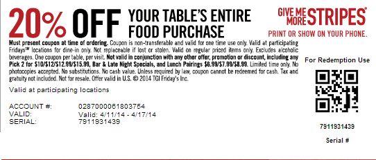 20% Off  Expires 4/17/2014