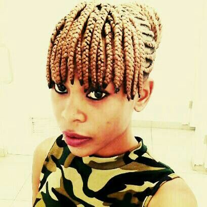 Beautiful Blond Cornrows With Fringe Short Box Braids