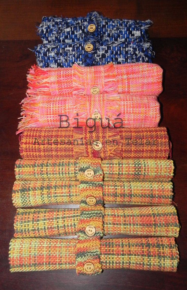 En Biguá ofrecemos una gran variedad de individuales, caminos de mesa y carpetas de mesa. Color y textura en #tejidos artesanales #Telar