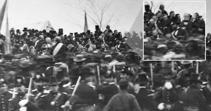 A crowd listens to President Abraham Lincoln giving his famous Gettysburg Address, a speech given at the dedication of the Civil War cemetery in Gettysburg, Pennsylvania on Nov. 19, 1863.