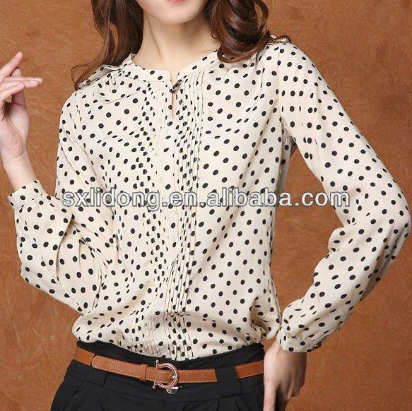 el ltimo dise o elegante en blusas de chifon punto las