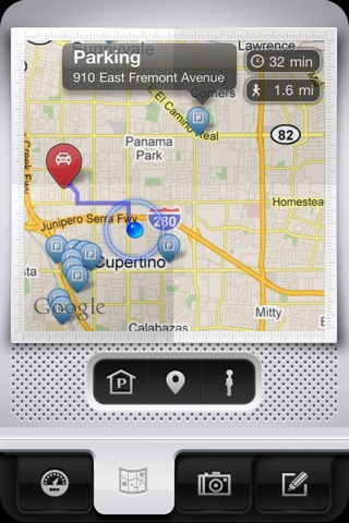 Parkbud --> http://itunes.apple.com/us/app/parkbud/id432798099?mt=8