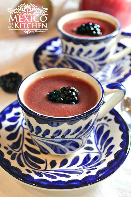 Blackberry atole, a hot masa drink full of flavor!