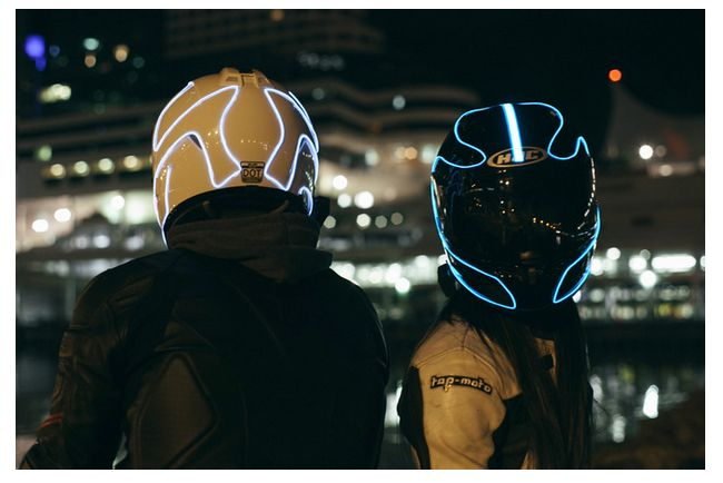 LightMode   Electroluminescent Motorcycle Helmets2