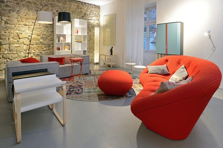 Sofa (grau) COR, Sofa (rot) Ligne Roset Wohnzimmer Pinterest - wohnzimmer orange rot