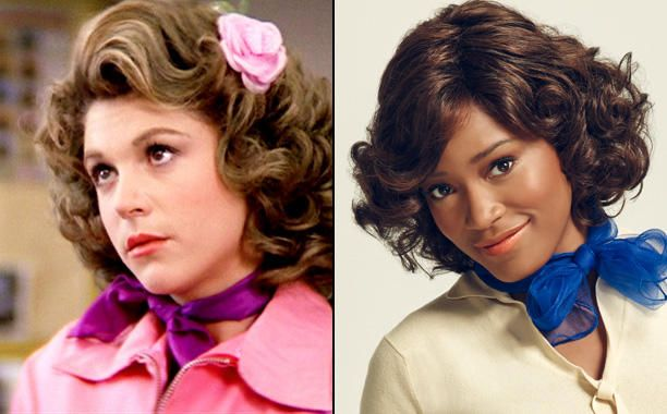 Dinah Manoff as Marty Maraschino and Keke Palmer as Marty - Grease -  Then and Now - EW.com