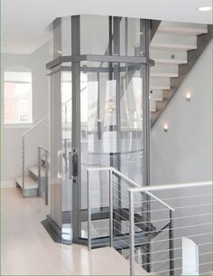 Visilift offers residential glass elevators in round and octagonal designs.