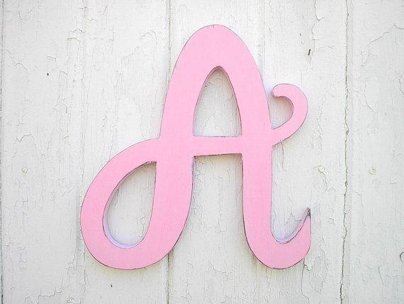 wooden letters a 12 u0026quot  light pink feminine font baby girl ig letter alphabet monogram nursery baby