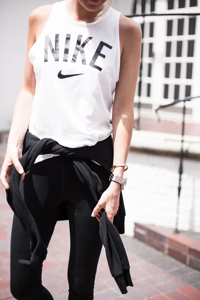 Nike tank top. Because eventually, you'll have serious muscles to show off.