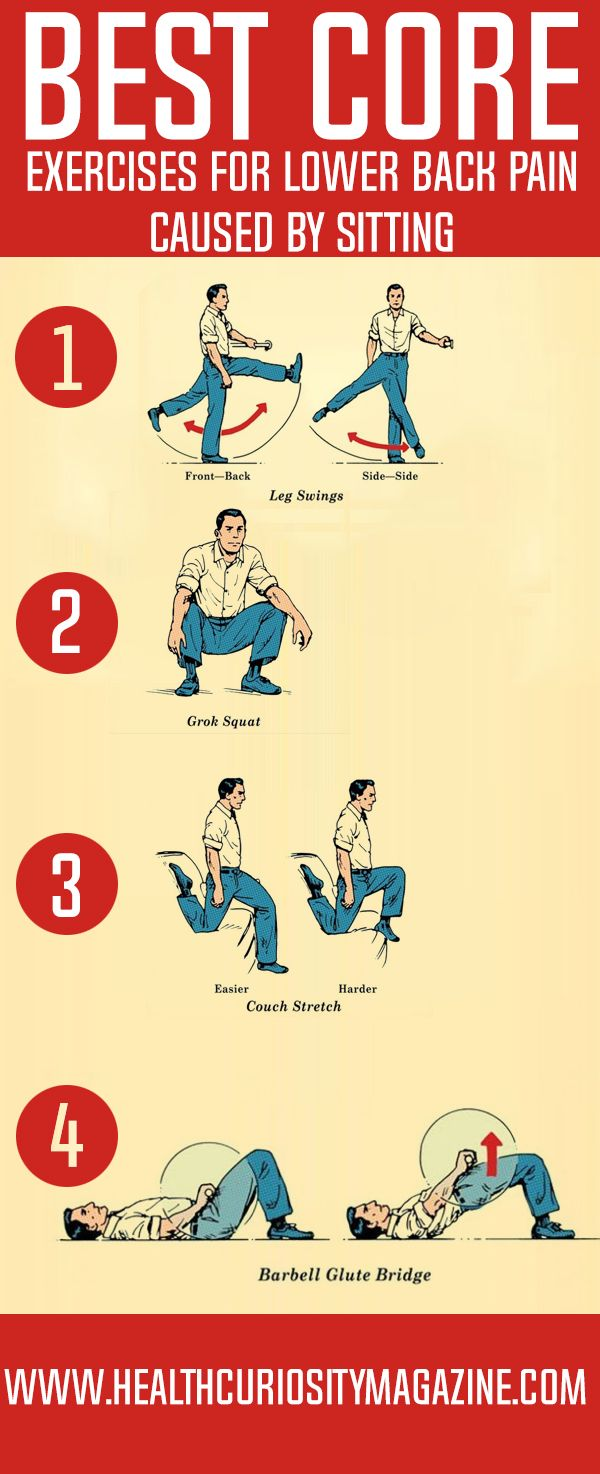 Best Core Exercises for Lower Back Pain Caused by Sitting
