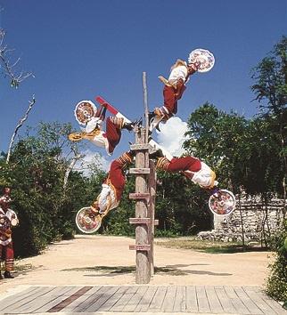 Papantla's Flying Men, Xcaret. Mexico