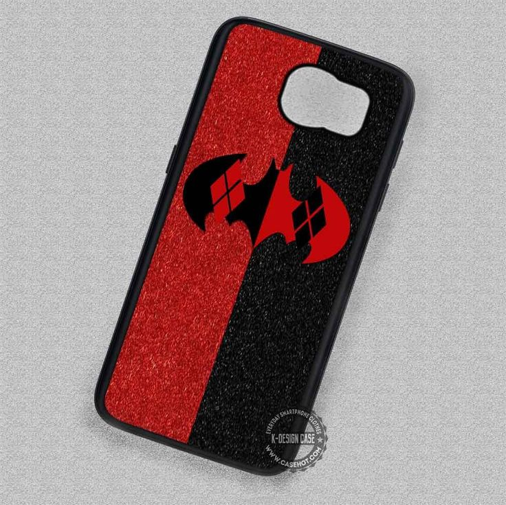 Blakred Color Bat Harley Quinn Logo - Samsung Galaxy S7 S6 S5 Note 7 Cases & Covers
