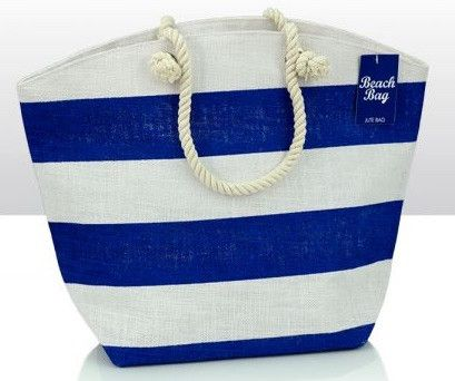 Now available on our store: Blue Stripe Jute ... Check it out here! http://www.feelingquirky.co.uk/products/blue-stripe-jute-beach-bag?utm_campaign=social_autopilot&utm_source=pin&utm_medium=pin