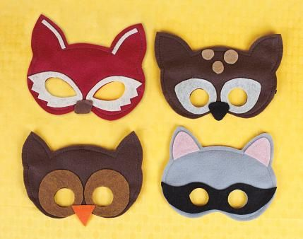 woodland animal masks template - forest animal themed birthday party forest animals