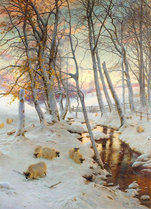 On a Clear Eve When the November Sky Grew Red - Joseph Farquharson  1899