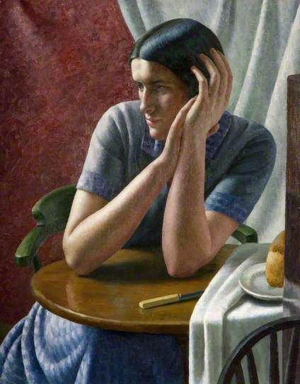 Clara by Dod Procter Oil on canvas, 74.5 x 59 cm Collection: The Potteries Museum & Art Gallery