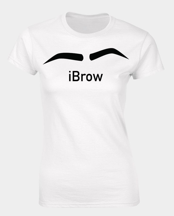 Ladies funny eyebrow t-shirt with text iBrow. by iganiDesign on Etsy