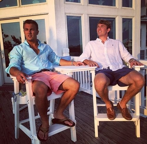 Southern gents sittin' out on the front porch.