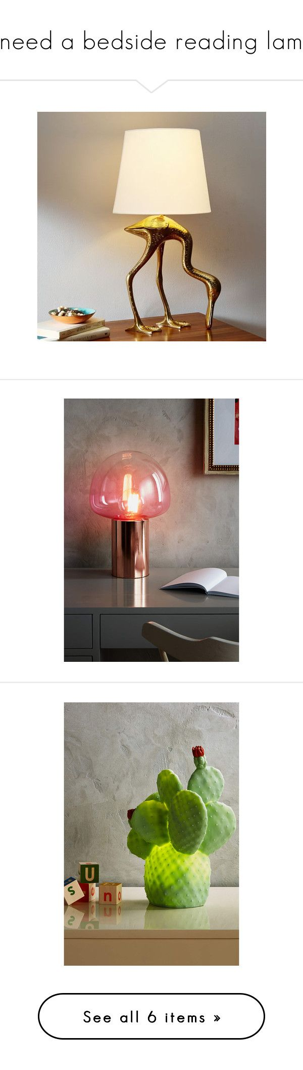 Bedside reading lamps -  I Need A Bedside Reading Lamp By Jenniepie Liked On Polyvore Featuring Home