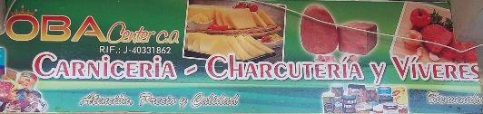 OBA CENTER, C.A. ___________________________ Carnicería y Charcuteria OBA Center, les ofrece: Venta de charcuterias y carnes, nacionales e importadas, quesos de todos los tipos, jamón, salchichas, víveres y todos lo necesario para su hogar o trailer de hamburguesas y perros calientes http://www.amarillasinternet.com/obacenter
