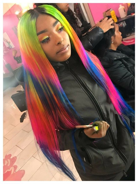 Omg Colorful Wig Diy Color By Yourself Strat To Get This