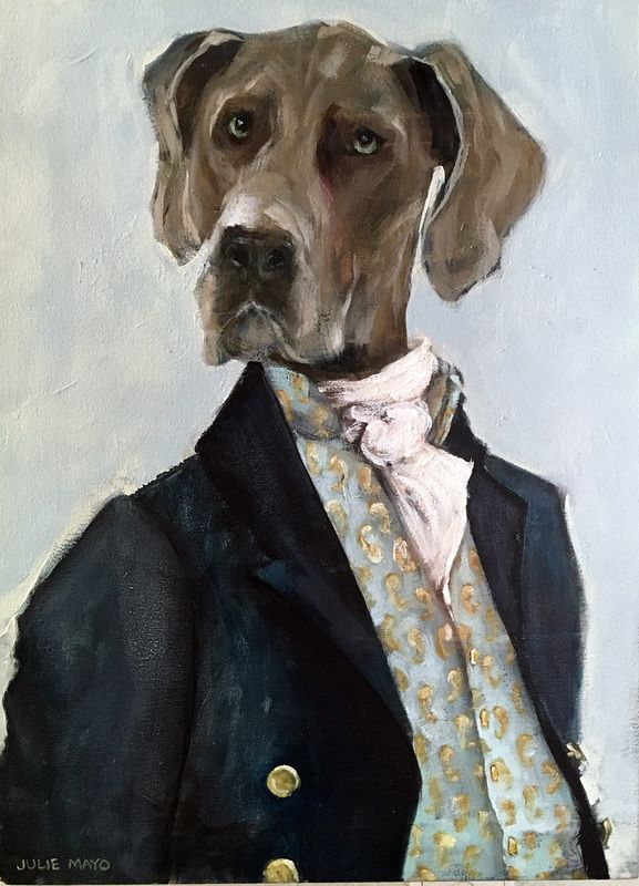 'Great Mr Dane' - Oil on Canvas - SOLD
