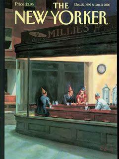 Edward Hopper Nighthawks parody. Way to go New Yorker magazine! #hopper JournaltoHealth.com