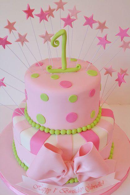 First Birthday Cakes NJ - Pink Girly Custom Cakes
